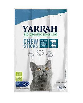 Yarrah - kattensnack chew stick met vis bio