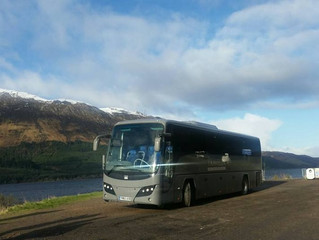 Tour in Scotland during the winter.