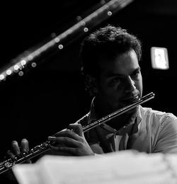 in rehearsal with Panos Karan