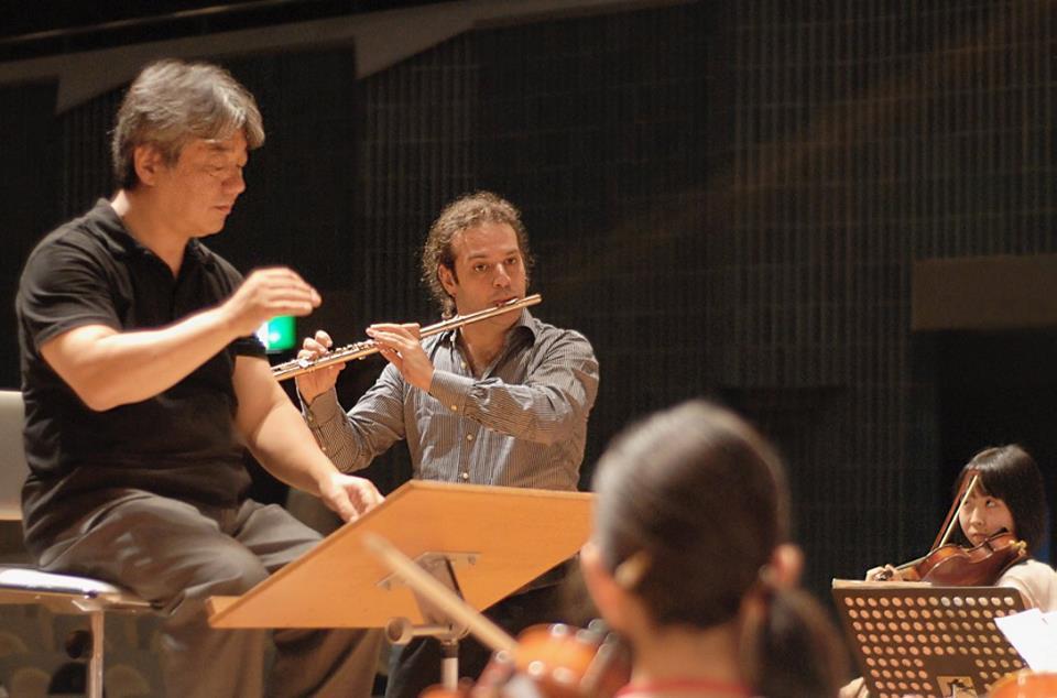with maestro Tetsuji Honna