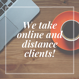 We take online and long-distance clients