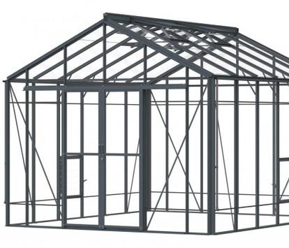 Robinsons Rosette Reach 10'9 wide Aluminium Greenhouse