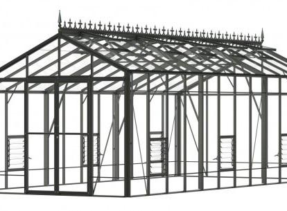 Robinsons Redoubtable 10'7 wide Aluminium Greenhouse