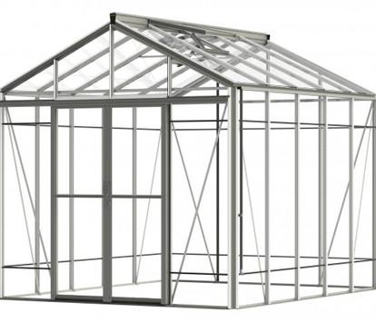 Robinsons Royale Reach 8'8 wide Aluminium Greenhouse
