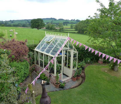 Robinsons Victorian Rugby 6'6 wide Aluminium Greenhouse