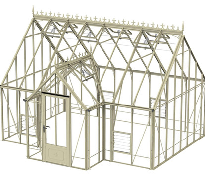 Robinsons Victorian Rookley 14'8 deep Aluminium Greenhouse