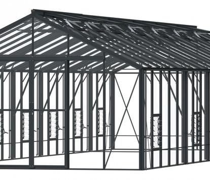 Robinsons Regal 12'7 wide Aluminium Greenhouse