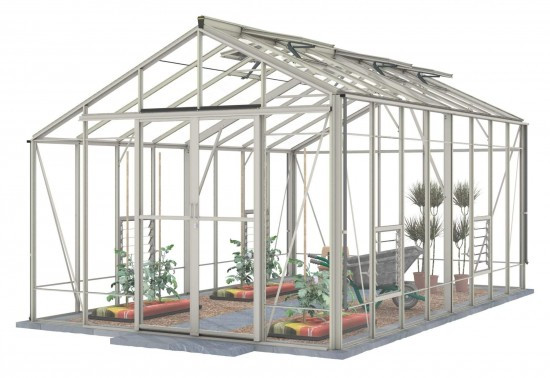 Robinsons Redoubtable 10'7 wide Aluminium Greenhouse