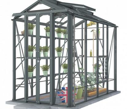 Robinsons Rowton 4'5 wide Aluminium Greenhouse