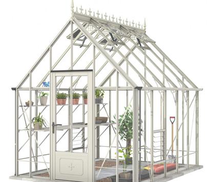 Robinsons Victorian Ratcliffe 8'7 wide Aluminium Greenhouse