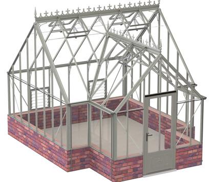 Robinsons Victorian Roemoor 15'9 deep Aluminium Greenhouse