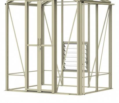 Robinsons Regatta 5'4 wide Aluminium Greenhouse
