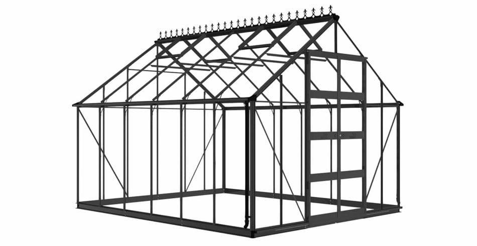 Eden Bourton Aluminium Greenhouse