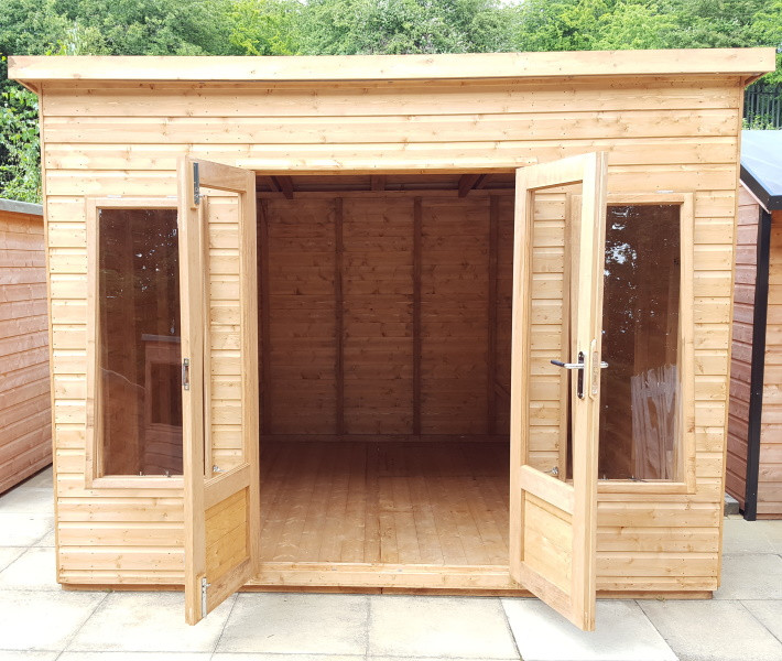 Albany Major Pent Conversion 10x10 with modern doors & windows