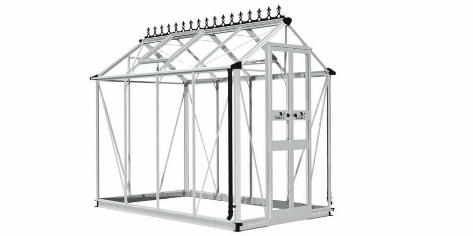 """Eden Birdlip 4'10"""" wide Aluminium Greenhouse"""