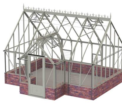 Robinsons Victorian Ramsbury 14'8 deep Aluminium Greenhouse