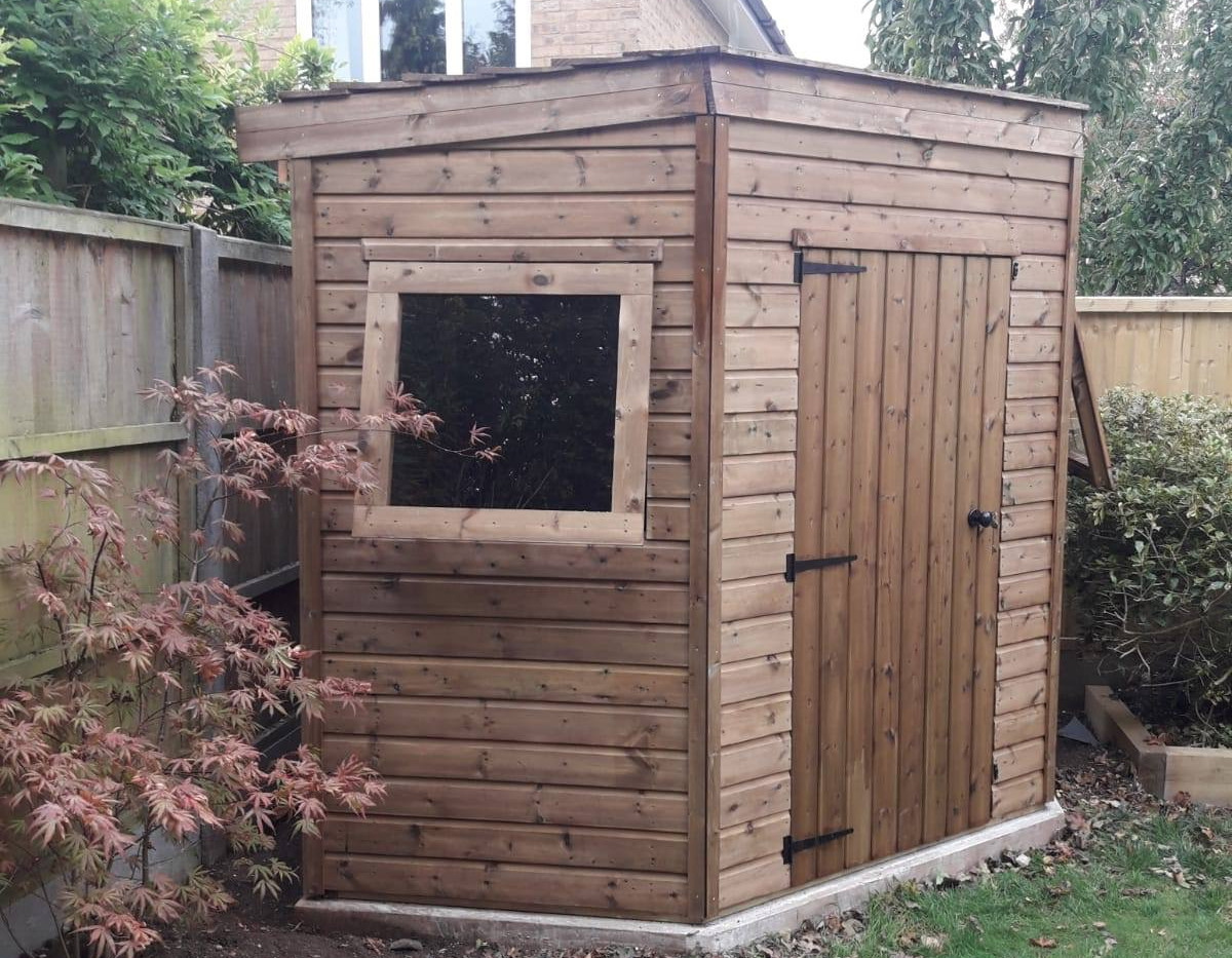 Breckland Camberley Corner Shed