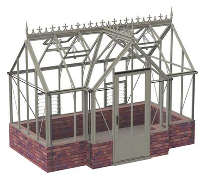 Robinsons Victorian Ranby 7'6 Deep Aluminium Greenhouse