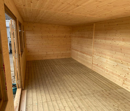Internal Tongue & Groove lining to walls, floor & roof