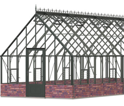 Robinsons Victorian Roedean 11'7 wide Aluminium Greenhouse