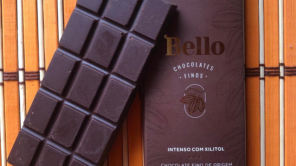 Bello  - Chocolate 80% Cacau com Xilitol  50g