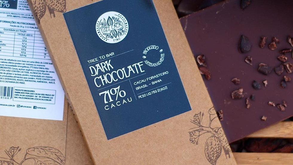 Luzz Cacau - Chocolate 71% de Cacau  75g