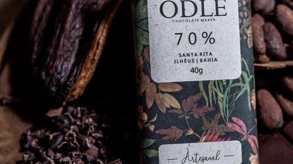 Odle - Chocolate 70% Cacau Fazenda Santa Rita - Ilhéus/BA  40g