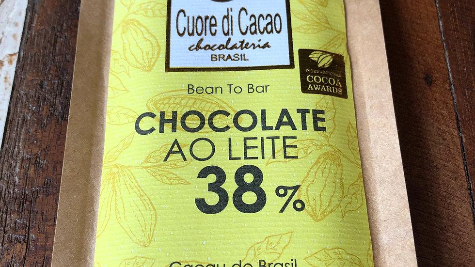Cuore di Cacao - Chocolate ao Leite 38% Cacau 50g