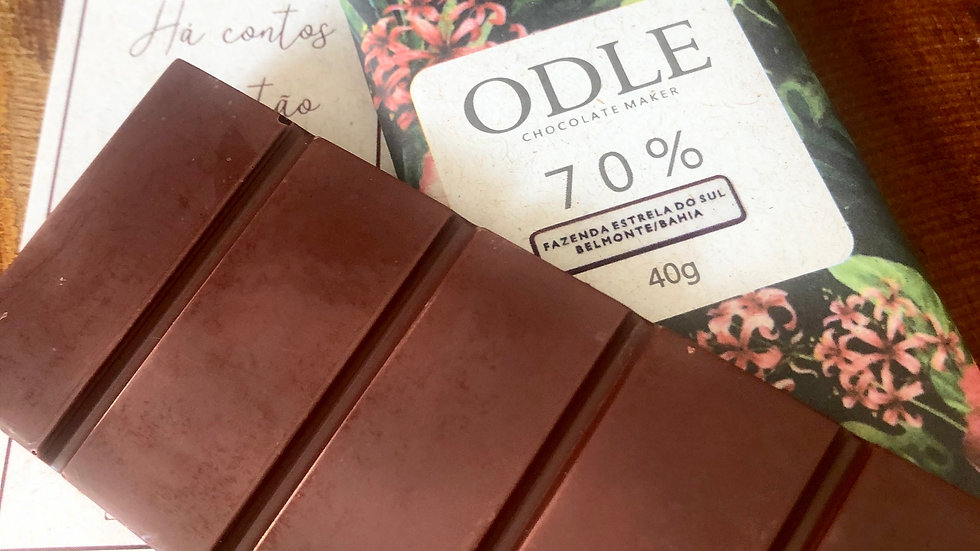 Odle - Chocolate 70% Cacau Fazenda Estrela do Sul - Belmonte/BA  40g