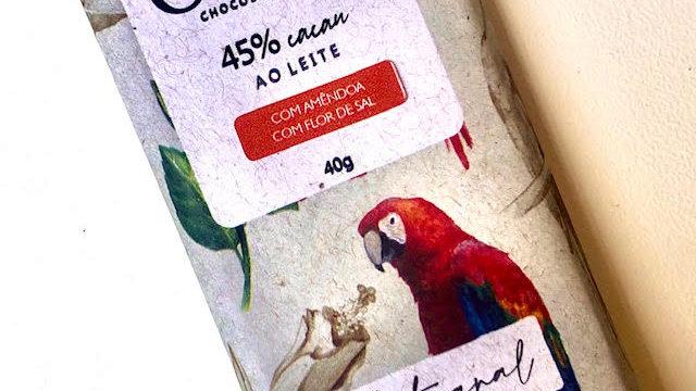 Odle - Chocolate ao Leite 45% Cacau com Amêndoas e Flor Sal 40g