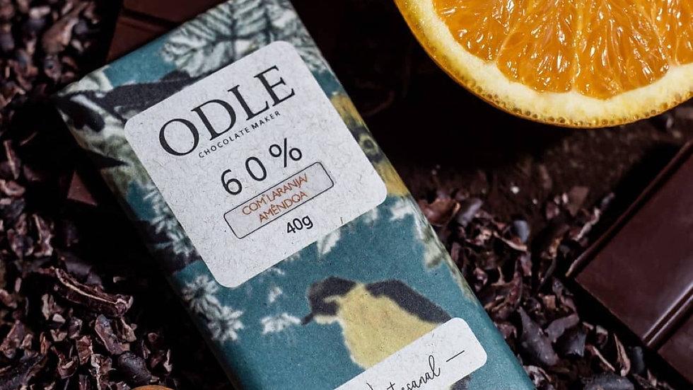 Odle - Chocolate 60% Cacau com Laranja e Amêndoas 40g