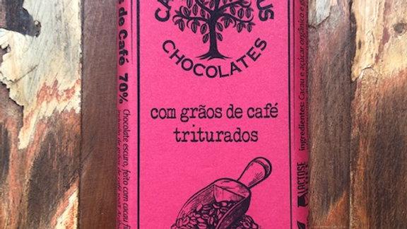 Casa Lasevicius - Chocolate 70% Cacau com Grãos de Café Triturados 40g