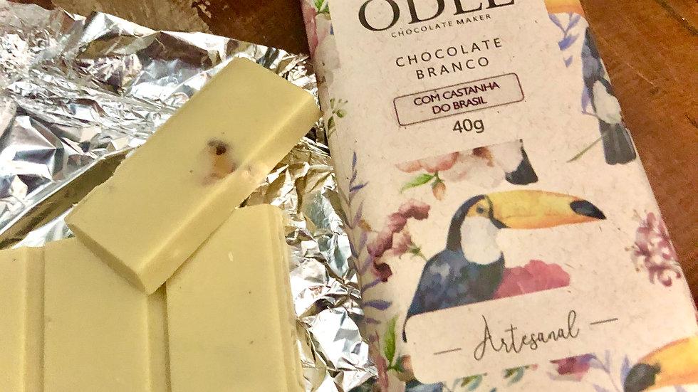 Odle - Chocolate Branco com Castanha do Brasil  40g