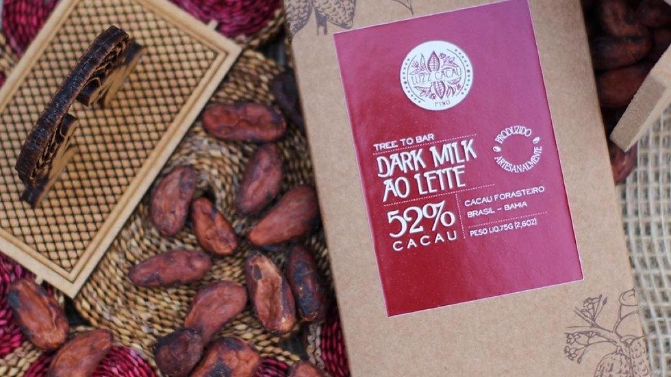 Luzz Cacau - Chocolate com 52% de Cacau  75g