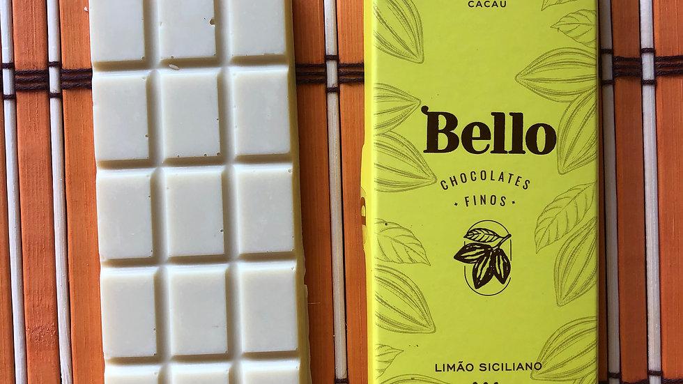 Bello - Chocolate Branco 34% Cacau com Limão Siciliano  50g