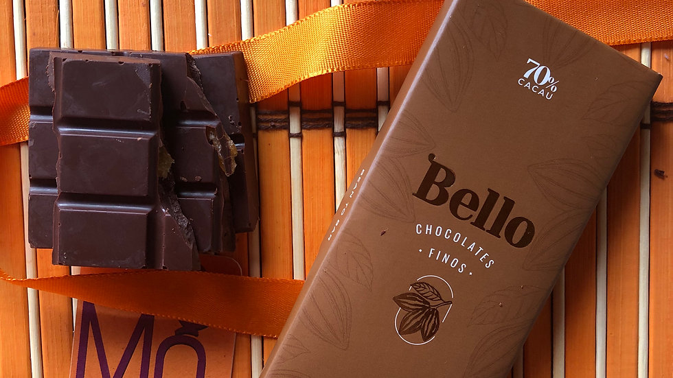 Bello  - Chocolate 70% Cacau com Cupuaçu  50g