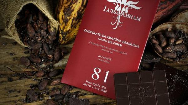 Luisa Abram - Chocolate da Amazônia - Rio Acará 81% 80g