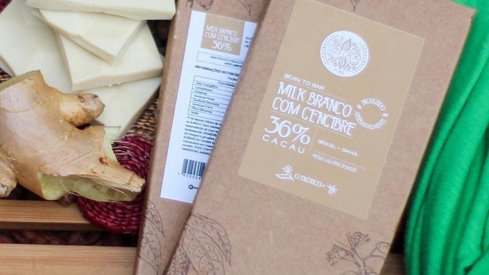 Luzz Cacau - Chocolate com Gengibre  36% de Cacau  75g