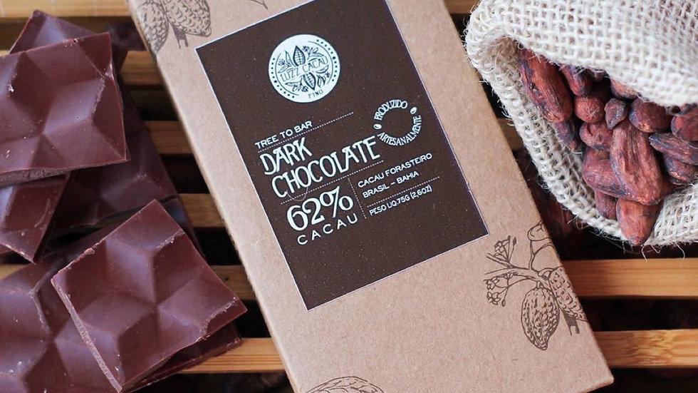 Luzz Cacau - Chocolate com 62% de Cacau  75g