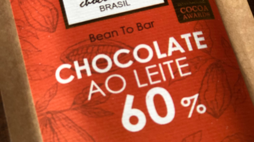 Cuore di Cacao - Chocolate ao Leite com 60% Cacau 50g