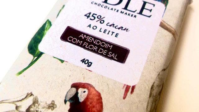 Odle - Chocolate ao Leite 45% Cacau com Amendoim e Flor Sal 40g