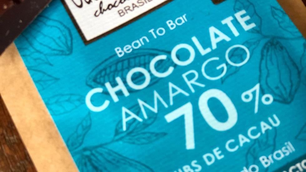 Cuore di Cacao - Chocolate 70% Cacau com Nibs 50g