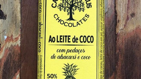 Casa Lasevicius - Chocolate ao Leite de Coco com Abacaxi e Coco 40g