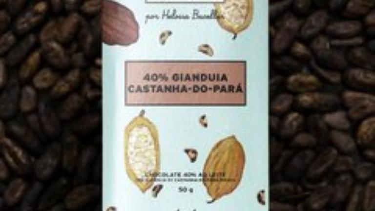 Mestiço - Chocolate 40% Gianduia Castanha do Pará 50g