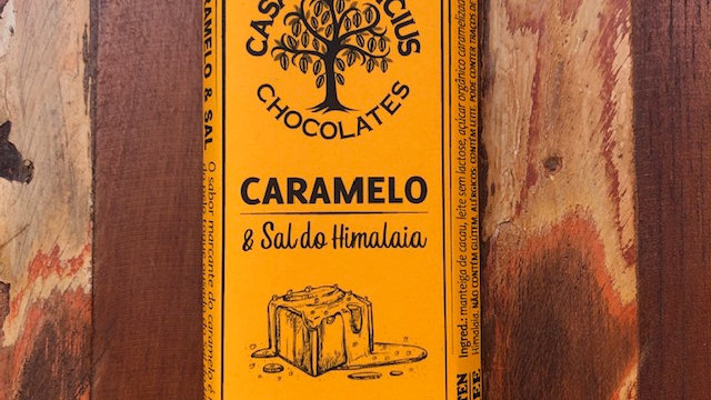 Casa Lasevicius - Caramelo e Sal do Himalaia - Chocolate Branco  Sem Lactose 40g