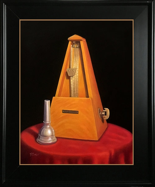 Time to Practice - Original Oil Painting, Framed