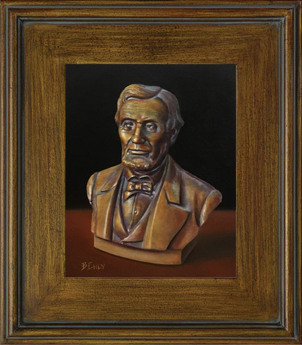 """Lincoln or Bust - 9"""" x 12"""" Oil Painting"""