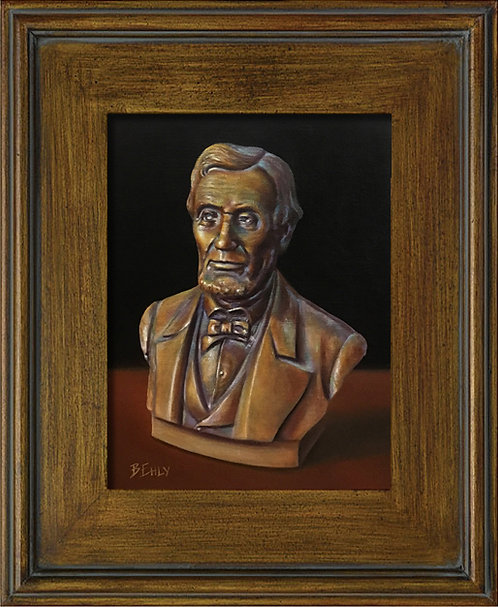 Lincoln or Bust - Original Oil Painting, Framed