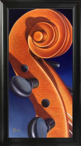"""Viola da Braccio - Oil Painting 12"""" x 24"""""""