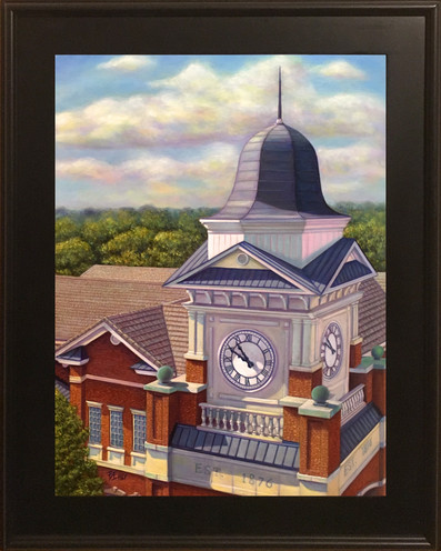 """Time Enough - Duluth City Hall 18"""" x 24"""" - Oil Painting - Framed"""